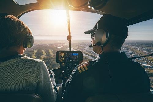 un survol en hélicoptère à la Réunion